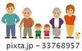 家族 ファミリー 一列のイラスト 33768957