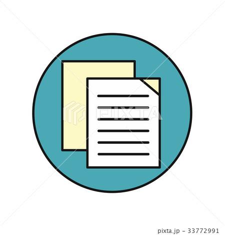 sheet paper iconのイラスト素材 33772991 pixta