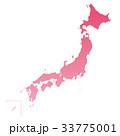 日本地図 日本 地図のイラスト 33775001