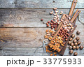 Mix of nuts. Top view. 33775933