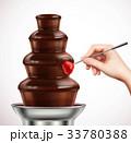 チョコレート いちご 食のイラスト 33780388