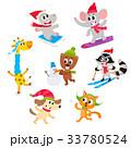 動物 ウィンター キャラクターのイラスト 33780524