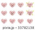 ハートの表情(ピンク) 33782138
