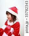 女の子 子供 クリスマスの写真 33782343
