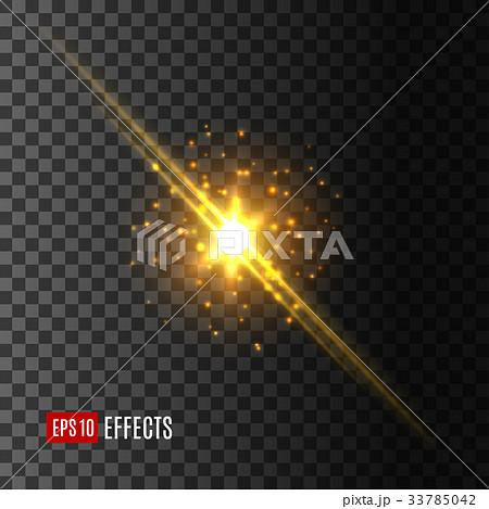 Star light flash lens flare effect vector icon 33785042