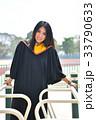 Asian cute women portrait graduation. 33790633