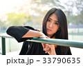 Asian cute women portrait graduation. 33790635