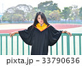Asian cute women portrait graduation. 33790636