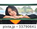 Asian cute women portrait graduation. 33790641