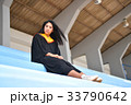 Asian cute women portrait graduation. 33790642