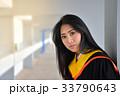 Asian cute women portrait graduation. 33790643