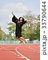 Asian cute women portrait graduation. 33790644