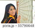 Asian cute women portrait graduation. 33790648