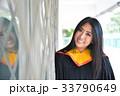 Asian cute women portrait graduation. 33790649