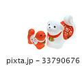 戌年 年賀素材〜紅白の親子犬 33790676