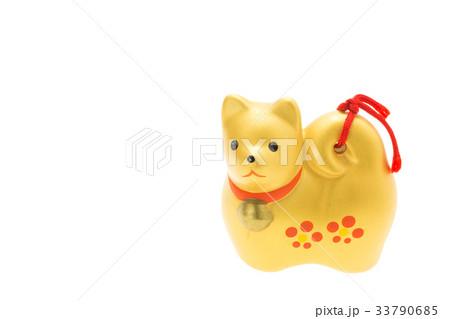戌年 年賀素材〜金色の犬 33790685