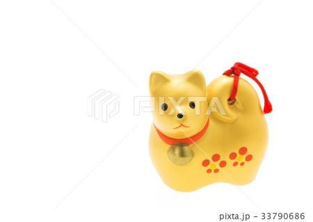 戌年 年賀素材〜金色の犬 33790686