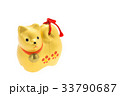 戌年 年賀素材〜金色の犬 33790687