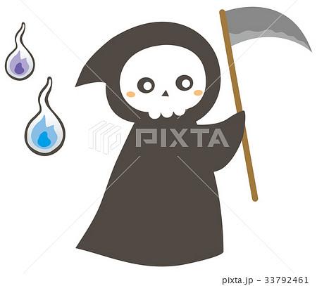 かわいい死神のイラスト素材 33792461 Pixta