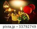 pelita, ketupat, oil lamps and chinese lanterns 33792749