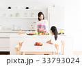 母子 親子 キッチンの写真 33793024