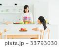 母子 親子 キッチンの写真 33793030