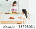 母子 親子 キッチンの写真 33793031