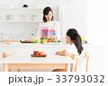 母子 親子 キッチンの写真 33793032