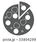 ピザ アイコン ベクターのイラスト 33804299