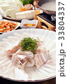 Thinly sliced fish fillet 33804337