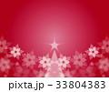 クリスマスツリーとポインセチア 33804383