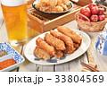 Fried spanish mackerel fillets.   33804569