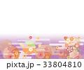 新年 正月 和柄のイラスト 33804810