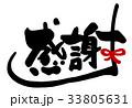 感謝 筆文字 文字のイラスト 33805631
