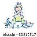化粧 女性 イラスト 33810517
