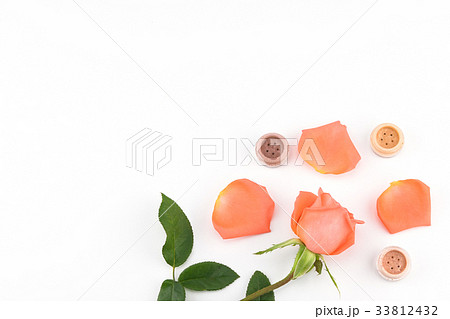 Orange rose and eye shadow with copy space  33812432