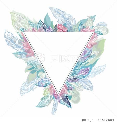 Vector Triangle Boho Frame 33812804