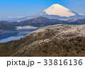 箱根 大観山から望む富士山と芦ノ湖 33816136