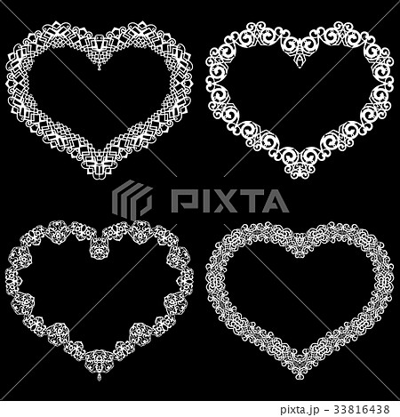 Laser cut frame in the shape of a heart 33816438