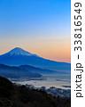 日本平から望む朝焼けと富士山・清水港 33816549