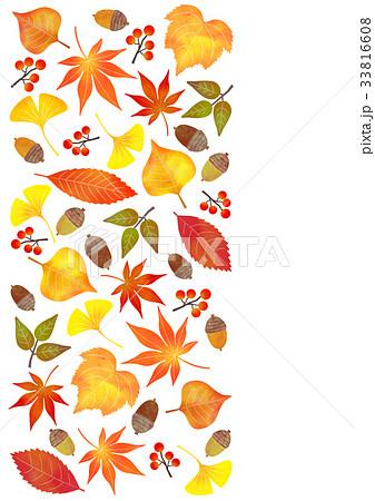 落ち葉 背景のイラスト素材 33816608 Pixta