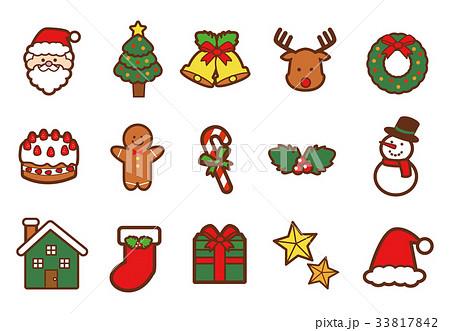 クリスマスのアイコンセット 33817842
