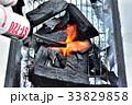 炭 バーベキュー アウトドアの写真 33829858