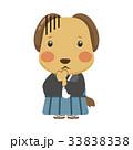 犬 キャラクター 和装のイラスト 33838338
