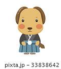 犬 キャラクター 和装のイラスト 33838642