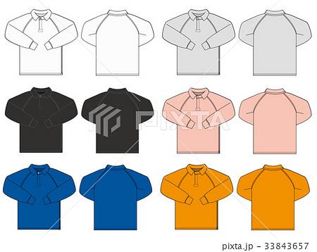 ラグビーシャツ 長袖ポロシャツ イラスト / カラーバリエーション 33843657