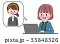 女性 パソコン ノートパソコンのイラスト 33848326