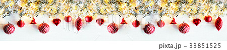 Red Panorama Christmas Banner, White Wood 33851525