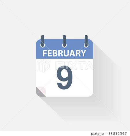 9 february calendar icon 33852547