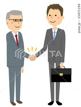 ビジネスマン 握手 33855266